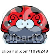 Clipart Scared Ladybug Royalty Free Vector Illustration by Cory Thoman