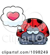 Clipart Ladybug In Love Royalty Free Vector Illustration by Cory Thoman