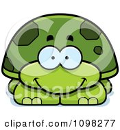 Clipart Happy Green Tortoise Turtle Royalty Free Vector Illustration