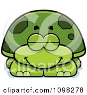 Clipart Sleeping Green Tortoise Turtle Royalty Free Vector Illustration by Cory Thoman