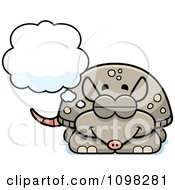 Clipart Dreaming Armadillo Royalty Free Vector Illustration