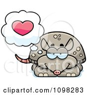 Clipart Armadillo In Love Royalty Free Vector Illustration