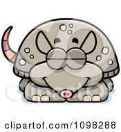 Clipart Sleeping Armadillo Royalty Free Vector Illustration