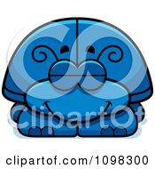 Clipart Sleeping Blue Beetle Royalty Free Vector Illustration
