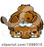 Clipart Bored Wooly Mammoth Royalty Free Vector Illustration