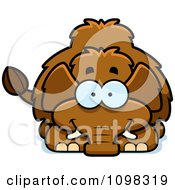 Clipart Happy Wooly Mammoth Royalty Free Vector Illustration by Cory Thoman