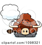 Clipart Dreaming Yak Royalty Free Vector Illustration