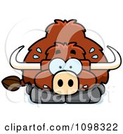 Clipart Scared Yak Royalty Free Vector Illustration