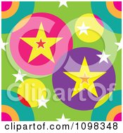 Seamless Colorful Stars And Circles Pattern Background