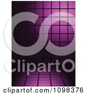 Clipart 3d Background Of Purple Tiles With Black Lines Royalty Free Vector Illustration