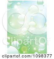Clipart Background Of Rising Reflective Bubbles In Water Royalty Free Vector Illustration