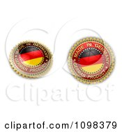 Clipart 3d Made In Germany Seals With The Flag Royalty Free CGI Illustration by stockillustrations