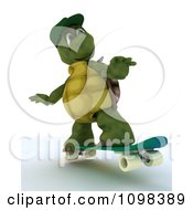 Clipart 3d Skateboarding Tortoise Royalty Free CGI Illustration by KJ Pargeter