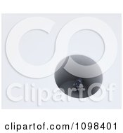 Clipart 3d Robot Stuck In A Deep Hole Royalty Free CGI Illustration