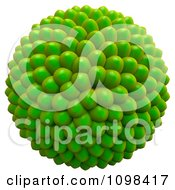 Clipart 3d Green Cluster Of Seeds An Example Of A Fibonnacci Pattern Royalty Free CGI Illustration