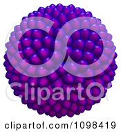 Clipart 3d Purple Cluster Of Seeds An Example Of A Fibonnacci Pattern Royalty Free CGI Illustration