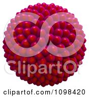 Clipart 3d Red Cluster Of Seeds An Example Of A Fibonnacci Pattern Royalty Free CGI Illustration