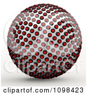 Clipart 3d Chrome And Red Light Sphere An Example Of A Fibonnacci Pattern Royalty Free CGI Illustration