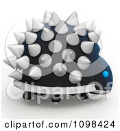 Clipart 3d Spiked Dinosaur Robot An Example Of A Fibonnacci Pattern 3 Royalty Free CGI Illustration by Leo Blanchette