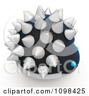 Clipart 3d Spiked Dinosaur Robot An Example Of A Fibonnacci Pattern 1 Royalty Free CGI Illustration by Leo Blanchette