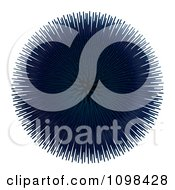 Clipart 3d Blue Sea Urchin An Example Of A Fibonnacci Pattern Royalty Free CGI Illustration