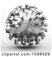 Clipart 3d Chrome Mecha Ball An Example Of A Fibonnacci Pattern Royalty Free CGI Illustration by Leo Blanchette