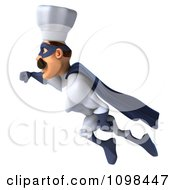 Clipart 3d Super Chef Flying 1 Royalty Free CGI Illustration