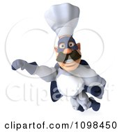 Clipart 3d Super Chef Flying 2 Royalty Free CGI Illustration