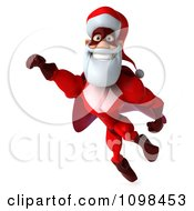 Clipart 3d Super Santa Flying 3 Royalty Free CGI Illustration