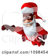 Clipart 3d Super Santa Flying 2 Royalty Free CGI Illustration