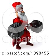 3d Super Santa Lifting A Heavy Barbell 2