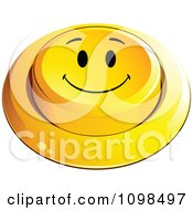 3d Yellow Happy Button Smiley Emoticon Face 5