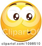 Clipart Yellow Worried Cartoon Smiley Emoticon Face 3 Royalty Free Vector Illustration
