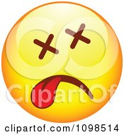 Clipart Dead Yellow Cartoon Smiley Emoticon Face Royalty Free Vector Illustration