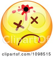 Clipart Shot Yellow Cartoon Smiley Emoticon Face 2 Royalty Free Vector Illustration