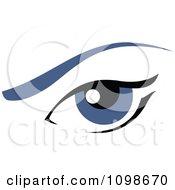 Clipart Blue Feminine Eye With An Eyebrow Royalty Free Vector Illustration