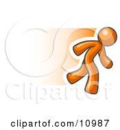 Speedy Orange Business Man Running Clipart Illustration by Leo Blanchette #COLLC10987-0020