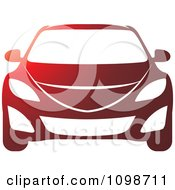 Clipart Red And White Car Royalty Free Vector Illustration