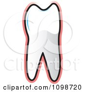 Clipart Human Bicuspid Tooth Over Pink Royalty Free Vector Illustration