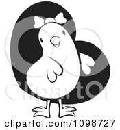 Clipart Cute Which Chick Wearing A Bow Over A Heart Royalty Free Vector Illustration by Lal Perera
