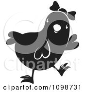 Clipart Cute Black Chick Wearing A Bow 2 Royalty Free Vector Illustration by Lal Perera