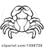 Clipart Black And White Crab Royalty Free Vector Illustration by Lal Perera