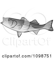 Clipart Bass Fish With An Open Mouth Royalty Free Vector Illustration