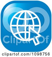 Clipart Blue Grid Internet Globe And Computer Cursor Icon Button Royalty Free Vector Illustration