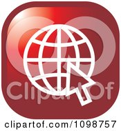 Clipart Red Grid Internet Globe And Computer Cursor Icon Button Royalty Free Vector Illustration