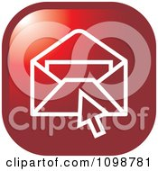 Clipart Red Computer Cursor Over An Email Envelope Icon Button Royalty Free Vector Illustration