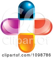 Clipart Colorful 3d Cross Royalty Free Vector Illustration