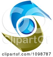 Clipart 3d Abstract Brown And Blue Person Or People Royalty Free Vector Illustration