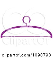 Clipart Purple Clothing Hanger Royalty Free Vector Illustration by Lal Perera