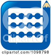 Clipart Blue Pencil Bordering A Math Abacus Royalty Free Vector Illustration
